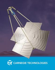 Carnegie Technologies foldable ku antenna. Photo: Carnegie Technologies