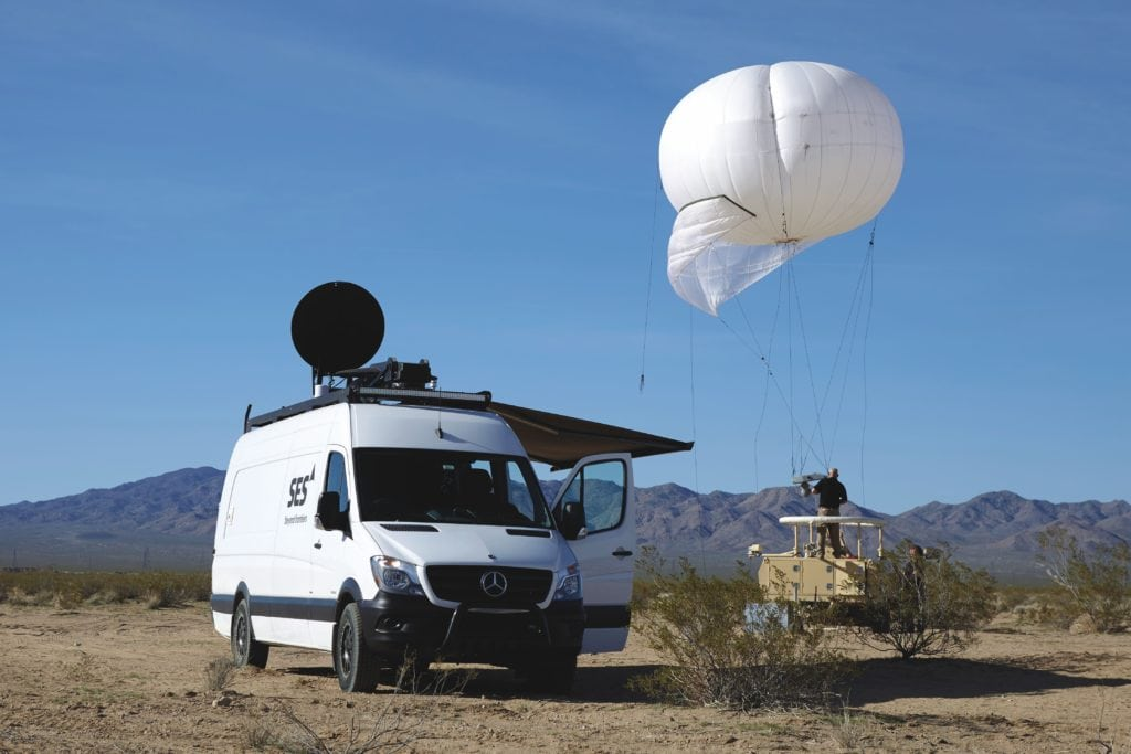 Government+ RRV and aerostat balloon.