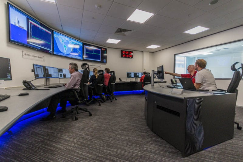 SSTL's Spacecraft Operations Centre, Guildford, UK.
