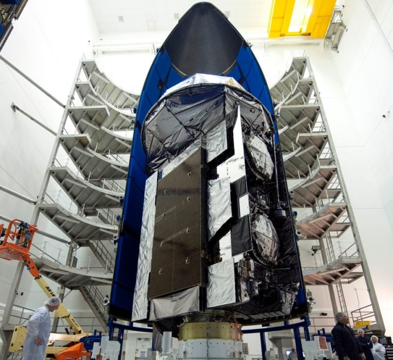 MUOS 5 in its launch fairing.