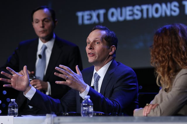 Jeffrey Tarr, DigitalGlobe CEO at the 33rd Space Symposium. Photo: Space Foundation.