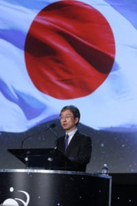 Shuzo Takada, director general of the National Space Policy Secretariat, at the 33rd Space Symposium. Photo Space Foundation.