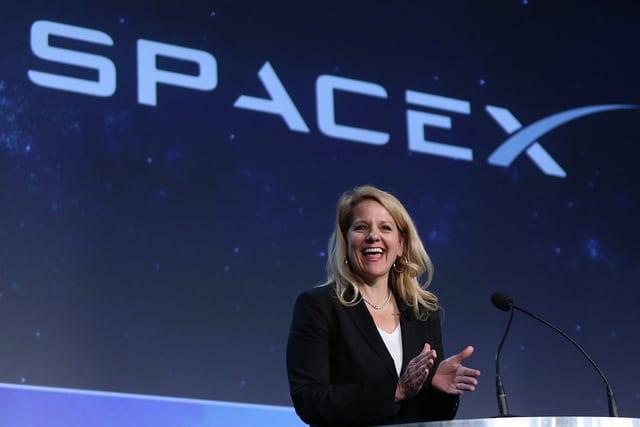 Gwynne Shotwell at the 33rd Space Symposium.