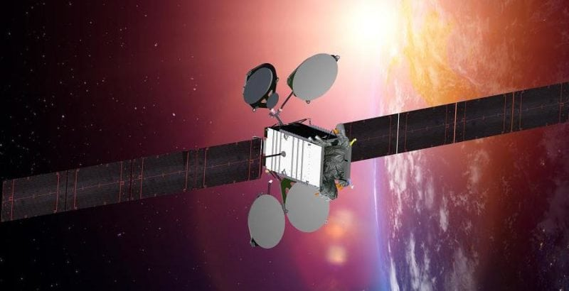 Rendition of ABS-2A satellite.