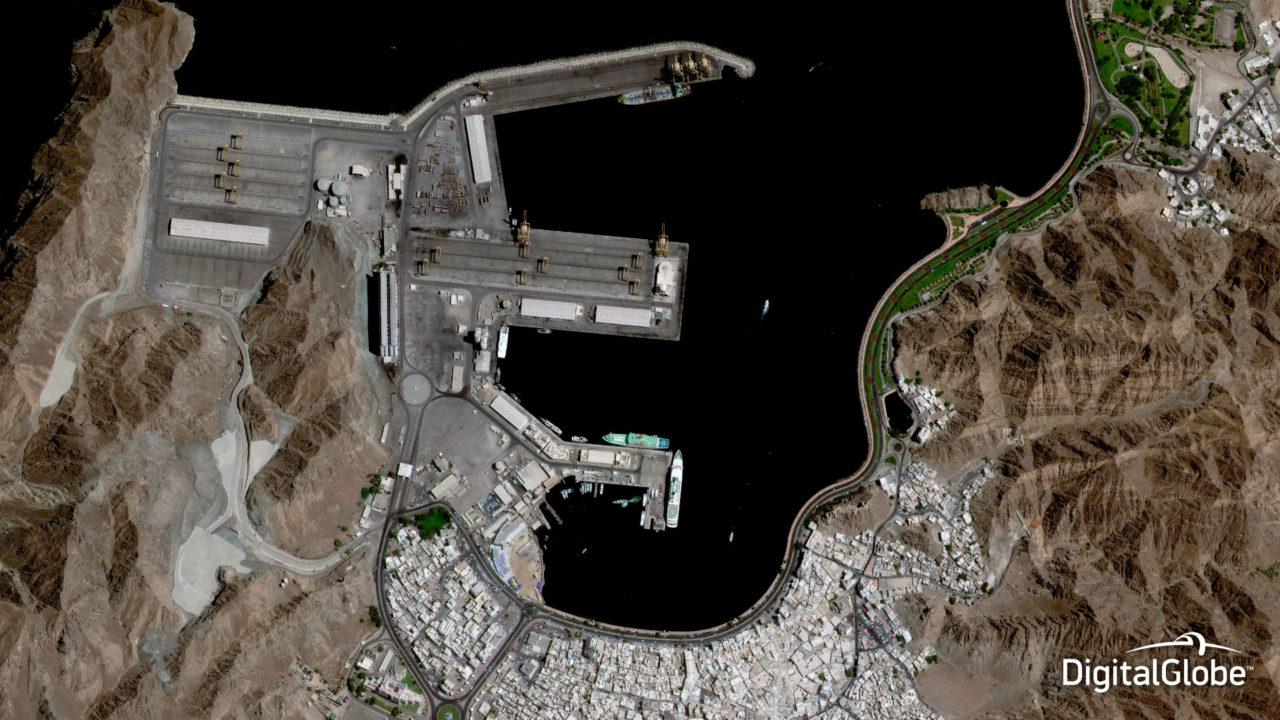 Muscat, Oman, October 10, 2014. Photo: DigitalGlobe.