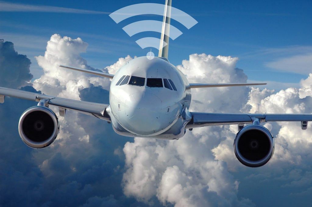 Commercial aircraft Wi-Fi.