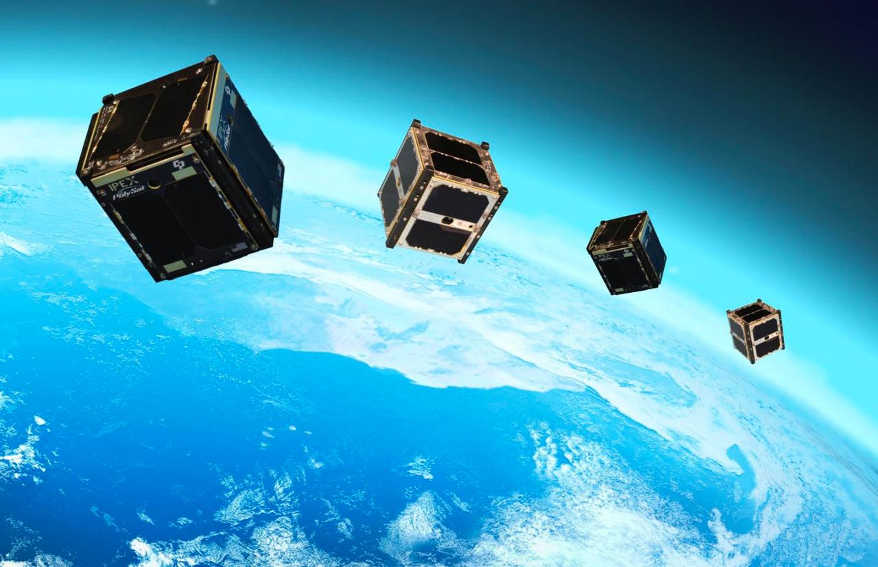 Rendition of CubeSats in orbit. Photo: NASA.