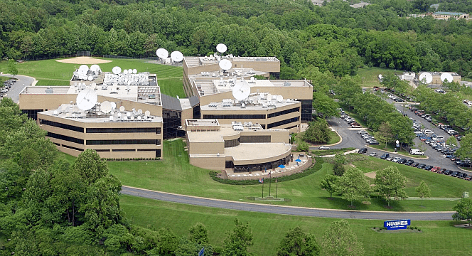 Hughes Network Systems campus in Germantown, MD. Photo Credit: Hughes