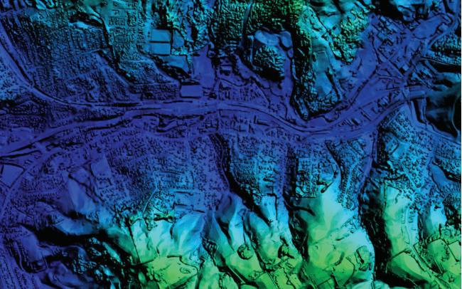 DSM-shaded relief of Dunedin, New Zealand. Photo: DigitalGlobe.
