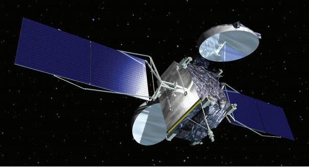 Rendition of Telkom 2 satellite. Photo: Orbital ATK.
