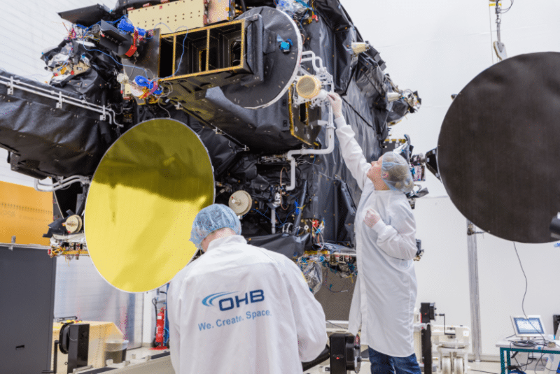 H36W 1 satellite during test campaign. Photo: OHB System AG.