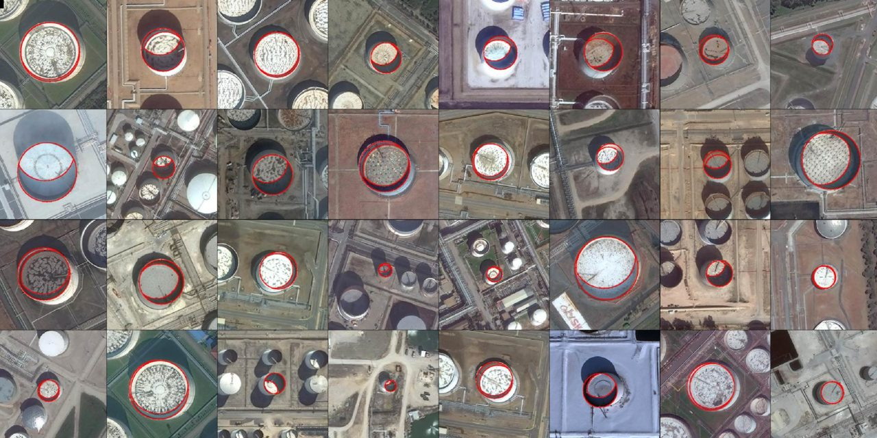 Orbital Insight's oil tracking analytics. Photo: Orbital Insight.