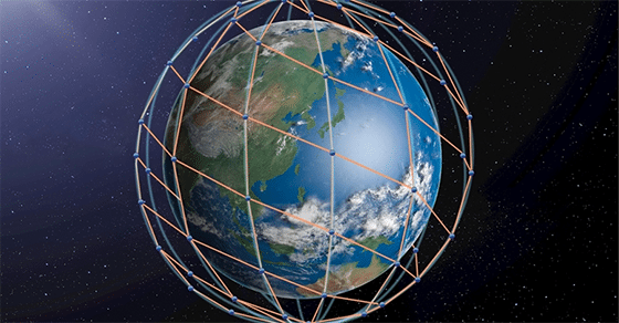 Rendition of LeoSat constellation. Photo: LeoSat.