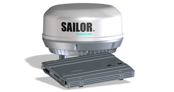 Sailor 4300 terminal. Photo: Cobham Satcom.
