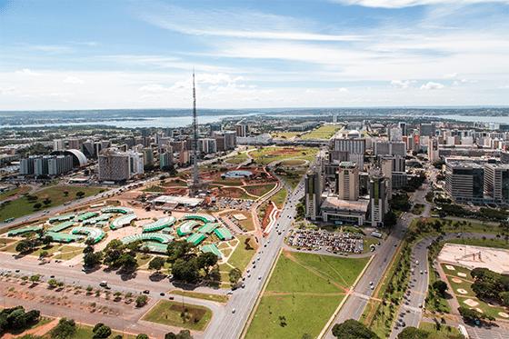 "The Monumental Axis (""Eixo Monumental"" in Portuguese), a central avenue in Brasília, Brazil's capital. Photo: Wikimedia."