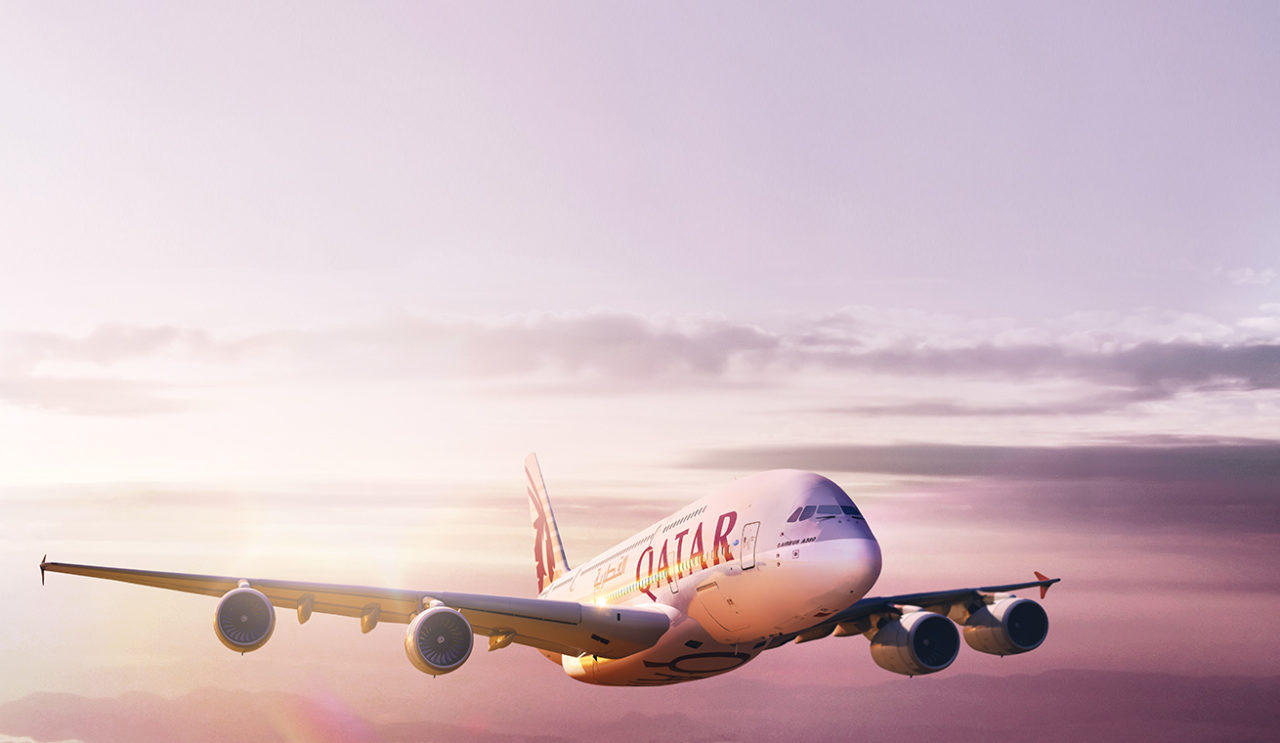 Qatar Airways Airbus A380. Photo: Qatar Airways.