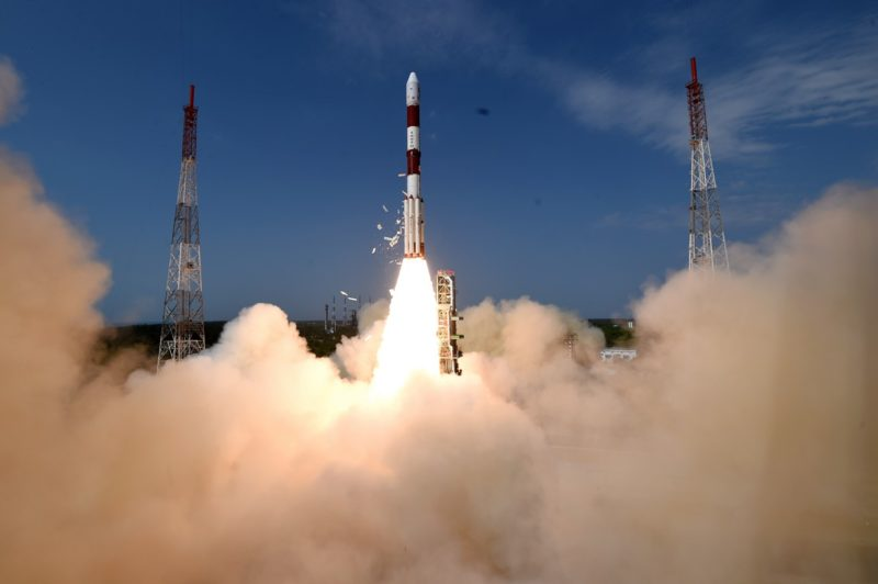 PSLV-C38 takes off from Satish Dhawan Space Center on June 23, 2017. Photo: ISRO.