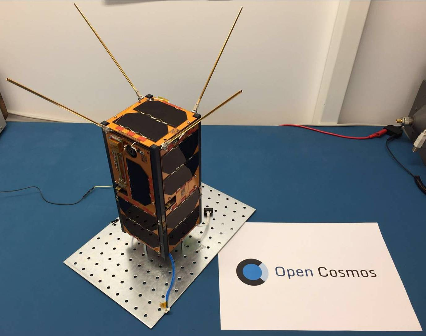 QB01, the first satellite launched by Open Cosmos. Photo: Open Cosmos.