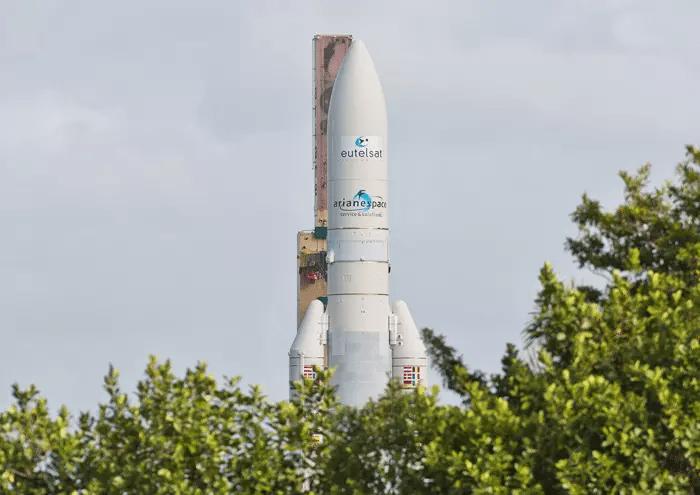 Ariane 5 rocket on the launchpad. Photo: Arianespace.