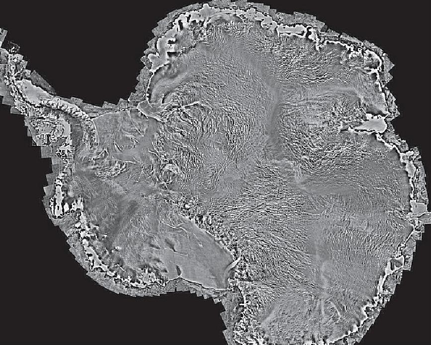 RadarSat 2 mosaic of Antarctica. Photo: MDA.