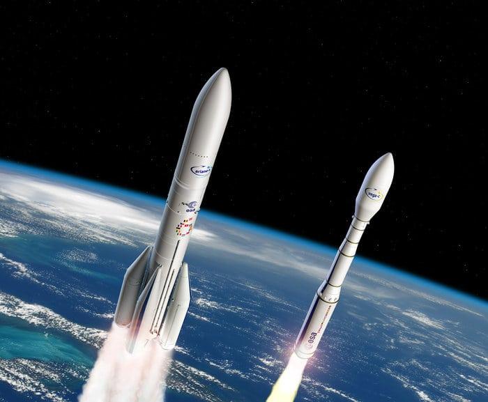 Rendition of Vega C launcher. Photo: Arianespace.