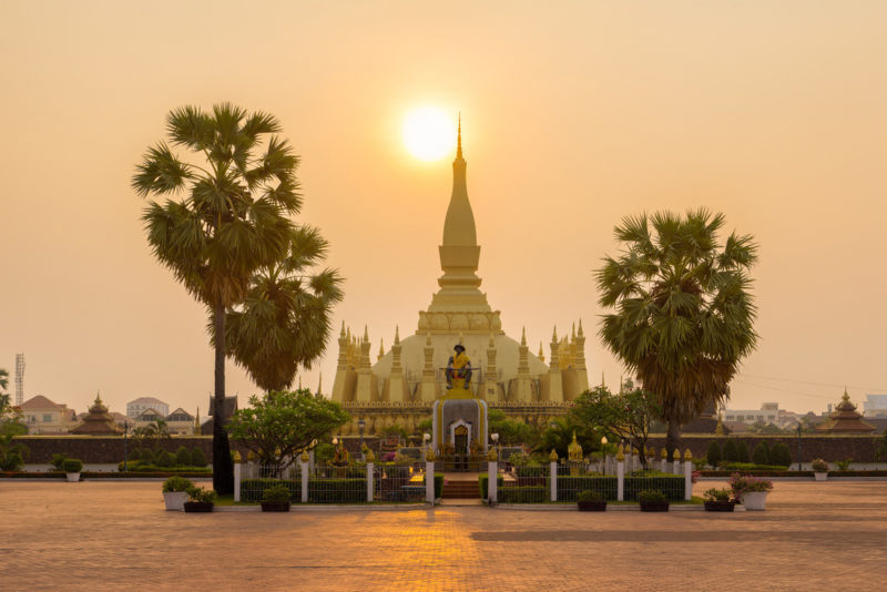 The sun rises over Pha That Luang in Vientiane, Laos. Photo: Flickr, Benh Lieu Song.