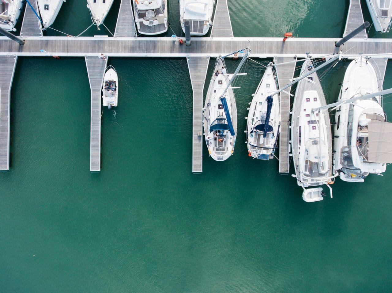 Private yachts docked at a marina. Photo: Pixabay.