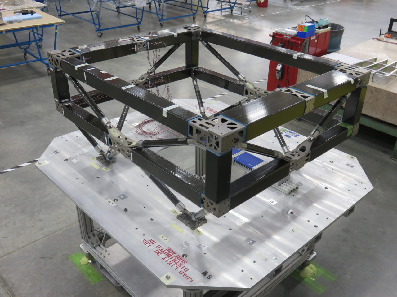 Boeing's 3D printed parts that were incorporated in the SES 15 satellite. Photo: Boeing.
