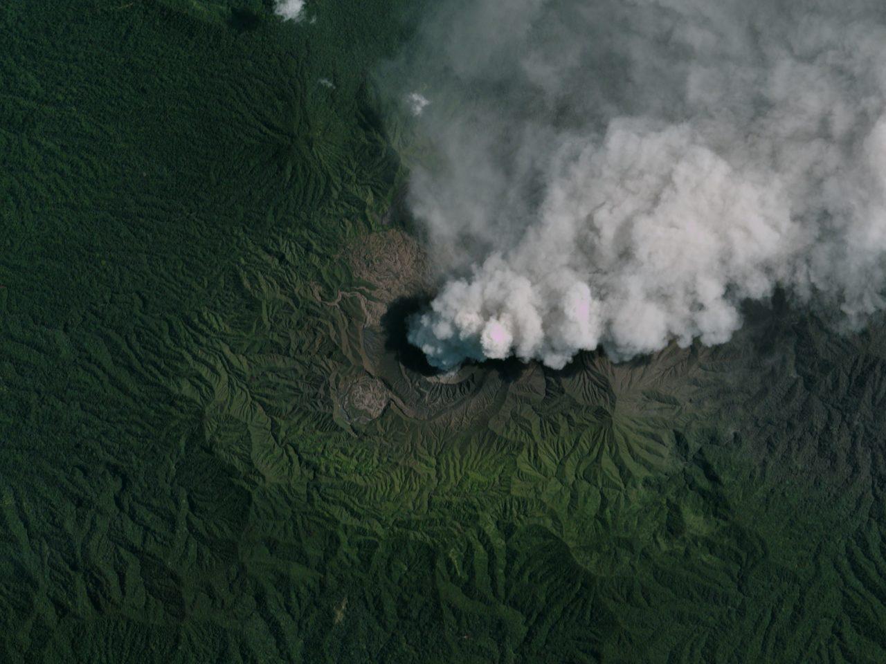 Indonesia's active volcano, Dukono. Photo: Planet.