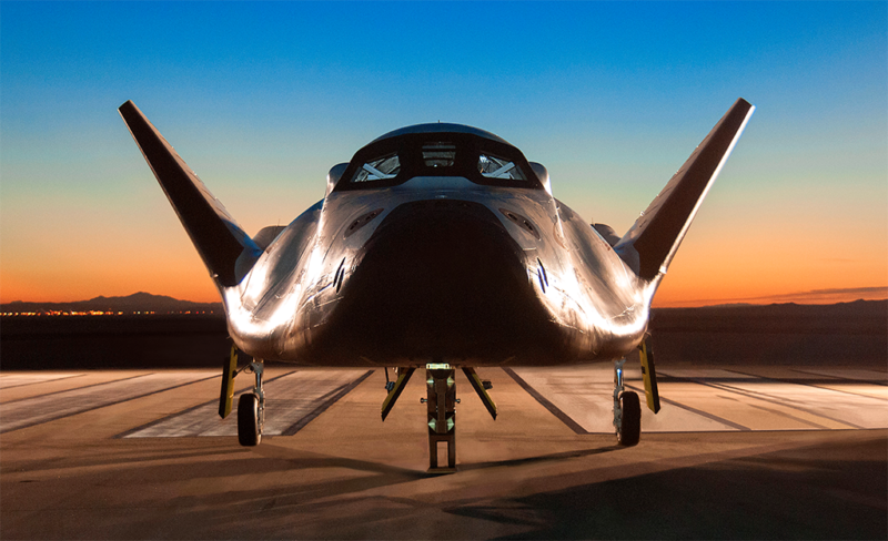 Frontal view of Dream Chaser vehicle. Photo: Sierra Nevada Corporation.