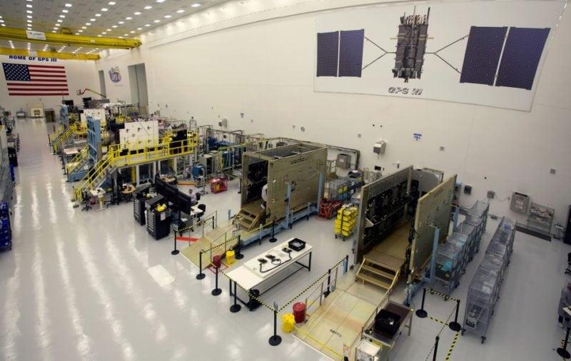 GPS 3 satellites under production at a Lockheed Martin facility. Photo: Lockheed Martin.
