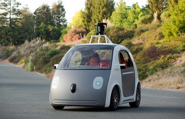 Google's self-driving car prototype, Waymo. Photo: Flickr, smoothgroover22.