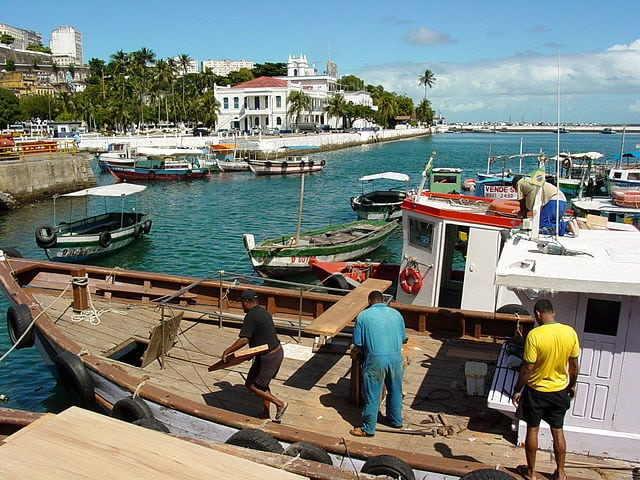 A harbor in Brazil with fishing boats. Photo: Wikimedia.
