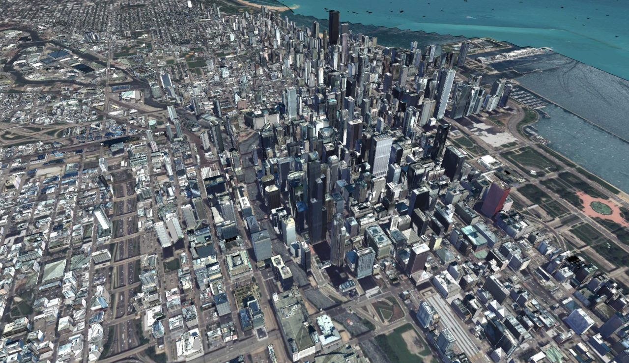 AW3D rendition of Chicago metro. Photo: NTT Data.