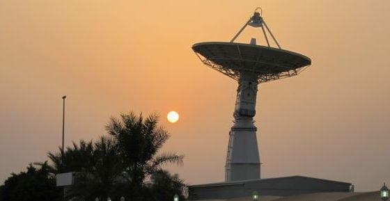 A KSAT antenna in Dubai, UAE. Photo: KSAT.