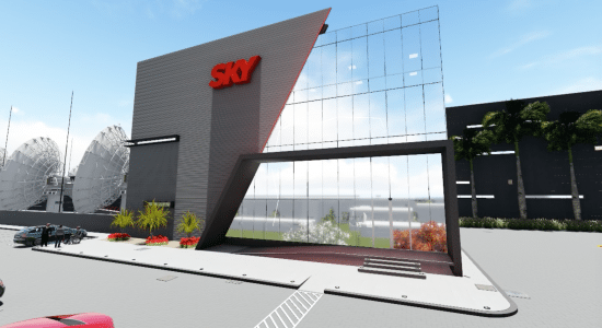 Rendition of Sky Brasil's new broadcast center. Photo: Sky Brasil.