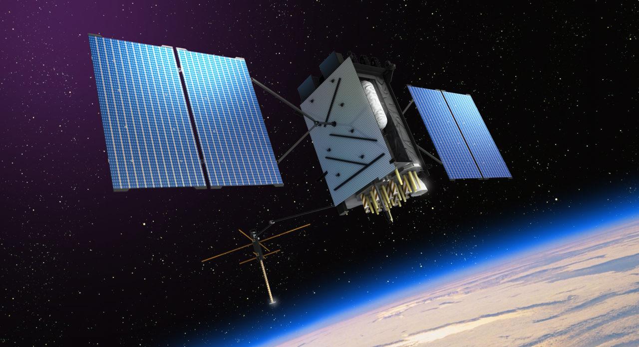 Rendition of GPS III satellite. Photo: Lockheed Martin