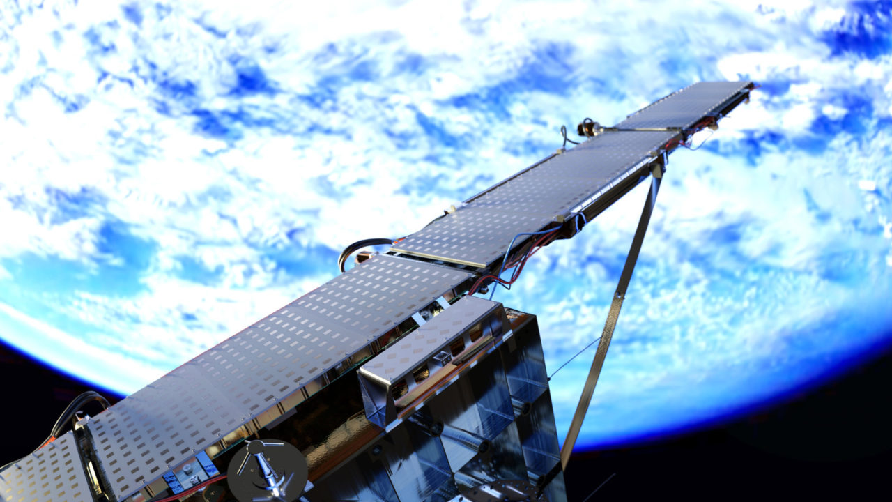 An Iceye rendering of the first SAR microsatellite deployed in orbit. Photo: Iceye.