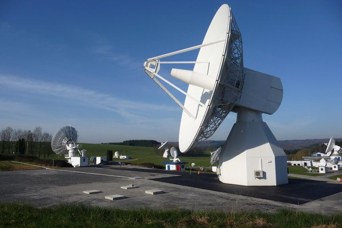 L-band antenna at Redu ground station. Photo: ESA.