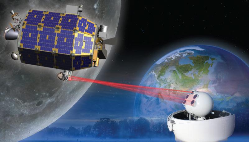 Rendition of satellite laser communications. Photo: NASA.