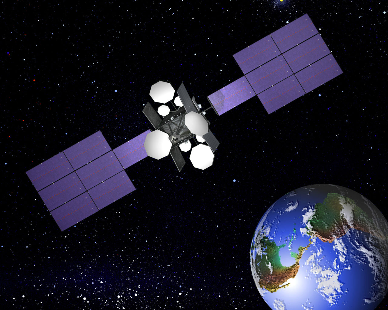 Rendering of the NSS 806 satellite. Photo: SES.