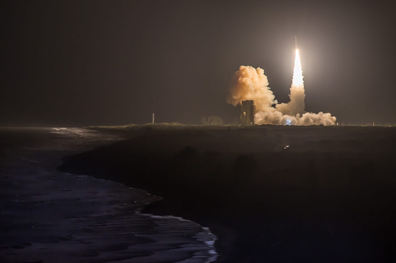 Minotaur 4 lifts off from Cape Canaveral carrying the OSR 5 satellite. Photo: Orbital ATK.