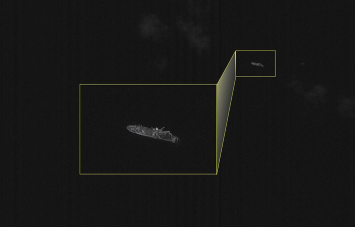 Satellite imagery of a fishing vessel. Photo: ISI.