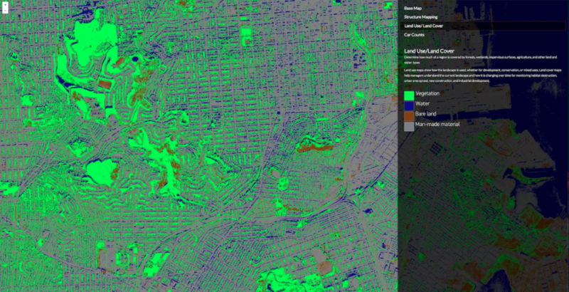 Computer vision algorithms applied to high resolution imagery. Photo: DigitalGlobe.