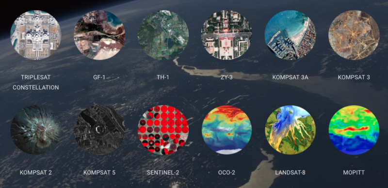 A selection of the datasets available within EarthCache. Photo: SkyWatch.