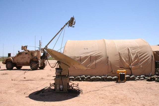 A satellite terminal at White Sands Missile Range, New Mexico. Photo: U.S. Army.