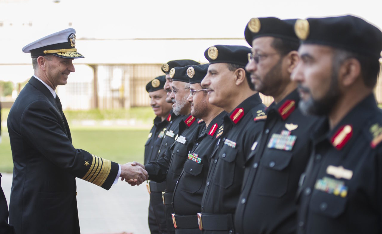 Chief of Naval Operations (CNO) Adm. Jonathan Greenert meets with heads of the Royal Saudi Naval Forces (RSNF) in 2013. Photo: US Navy.