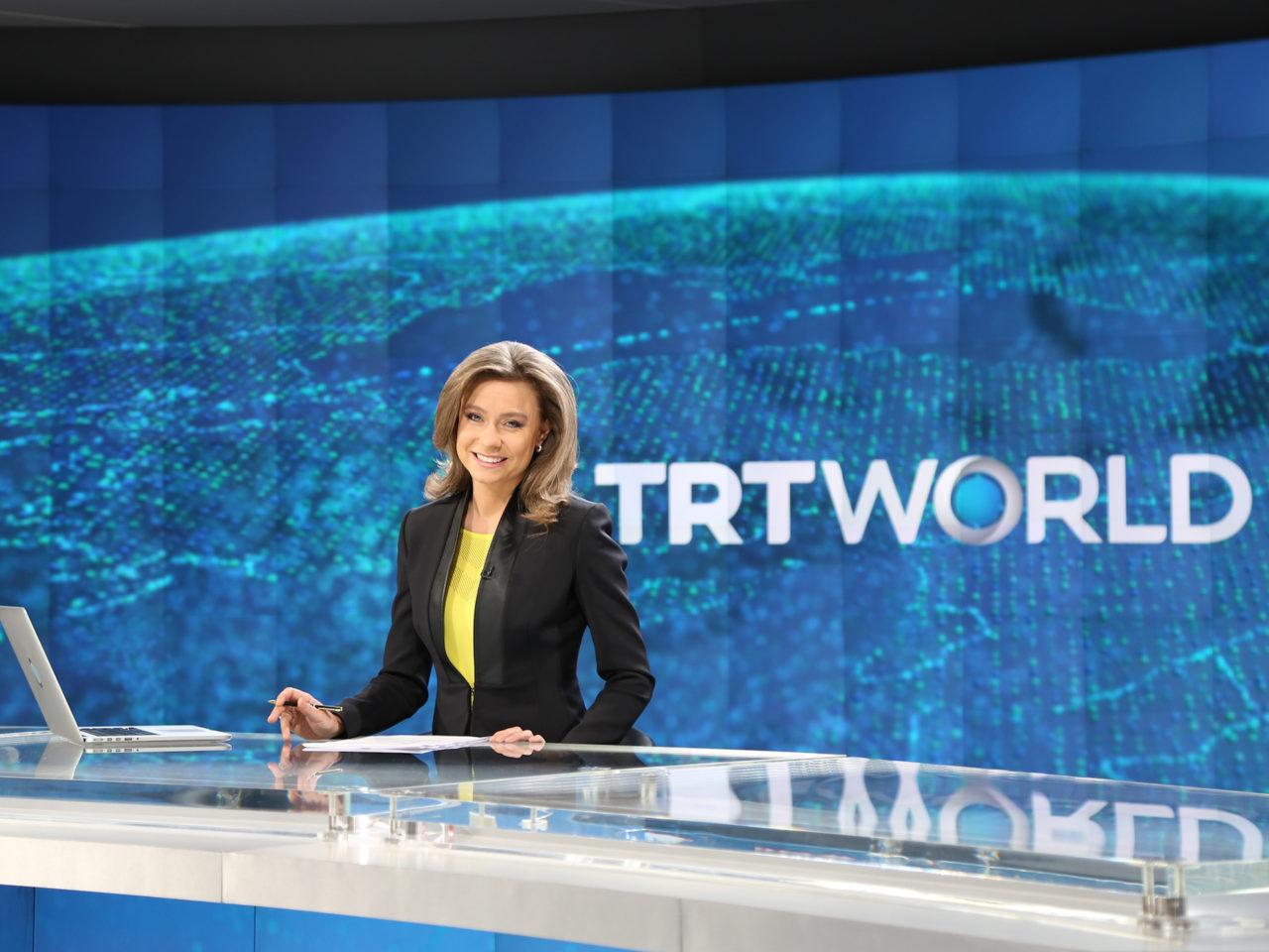 TRT World news anchor Andrea Sanke. Photo: TRT World.