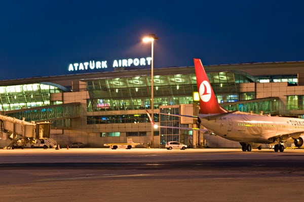 Ataturk Airport, the main international airport serving Istanbul, and the biggest airport in Turkey by total number of passengers. Photo: Ataturk Airport.