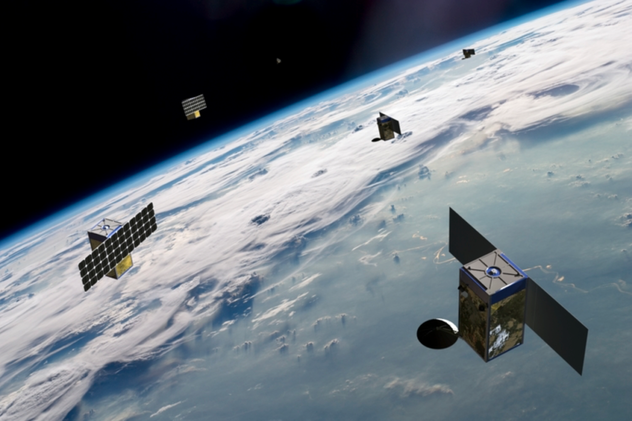 BlackSky's constellation will have 60 high resolution small satellites that provide frequent revisit rates over 95 percent of the Earth's population. Photo: Spaceflight Industries.